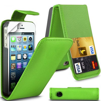 one 5 5S Parrot Grüne Flip PU Ledertasche für Apple iPhone 5 5S G5GADGET® (5 S Telefon Fällen Iphone)