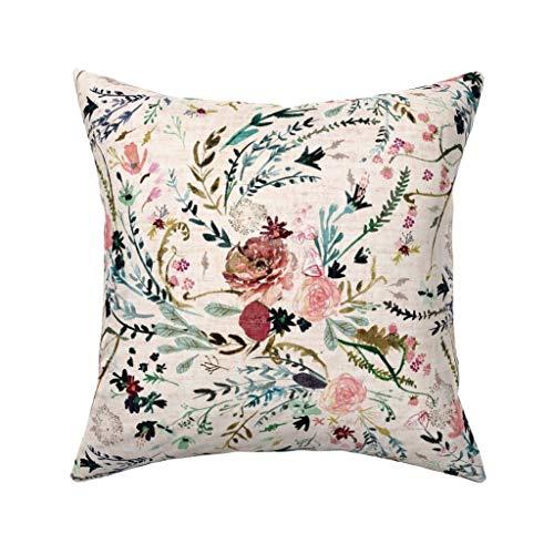 Einst Fable Floral (Lrg) (Blush) Kissenbezug Sofa Kissenbezug Home Decor 18 x 18 Zoll 45 x 45 cm -