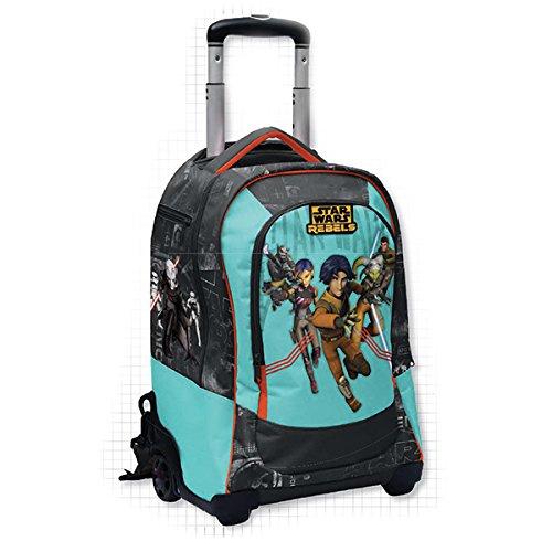 Star wars rebels - zaino trolley deluxe con gadget - scuola 2016-2017