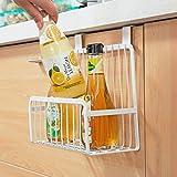 #10: HOME CUBE® Multifunctional Metal Storage Basket Kitchen Cabinet Drawer Organizer Door Hanger Storage Holder Shelf Kitchen Rack - White