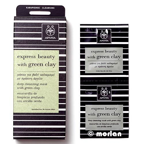 Apivita - Express Beauty Deep Cleansing Mask With Green Clay 6X(2X8Ml) - Soins De La Peau