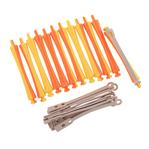 Segolike Lot of 12 Dozen Assorted Sized Perm Rods Hair Curler Rollers for Salon Girls Hair Styling Design - 1.6x9 cm