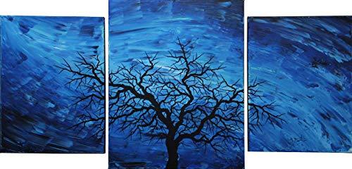 Zeitgenössisches Triptychon : Schattenbild des dunklen Baums (102 x 50 cm) -