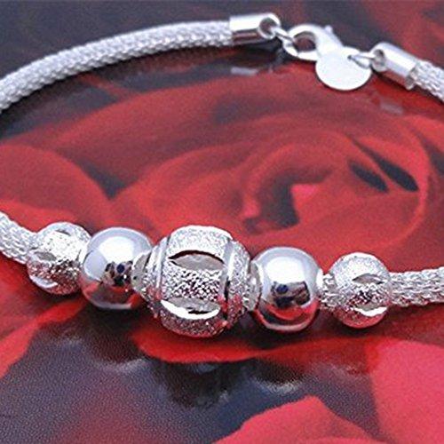comprare on line Aikesi Donna Braccialetto Cristallo Braccialetto Bracciale in argento, con cristalli, Gioielli accessori da donna prezzo