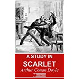 A Study In Scarlet (Illustrated) + Free Audiobook (English Edition)