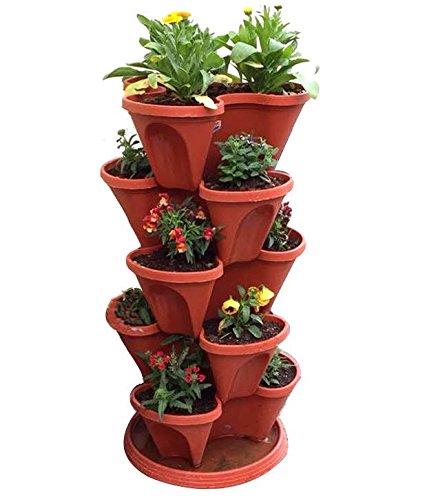 Vgreen Stack A Pot Floor Set Of 7 (6 Pot + 1 Bottom Tray)