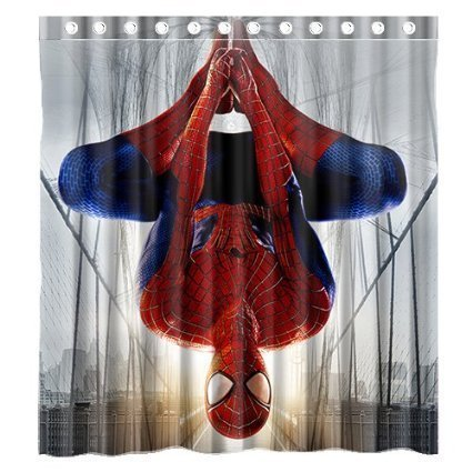 Custom the Amazing Spiderman Waterproof Fabric Bathroom Shower Curtain 66