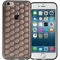 IPhone-Cover in Gel di Silicone, per iPhone 6, iPhone/6S, SE, iPhone, iPhone 5S, iPhone 5, iPhone, 5SE, plastica, Smoke Black Honeycomb Gel, iPhone 6 / 6S - Pro Gel Grip