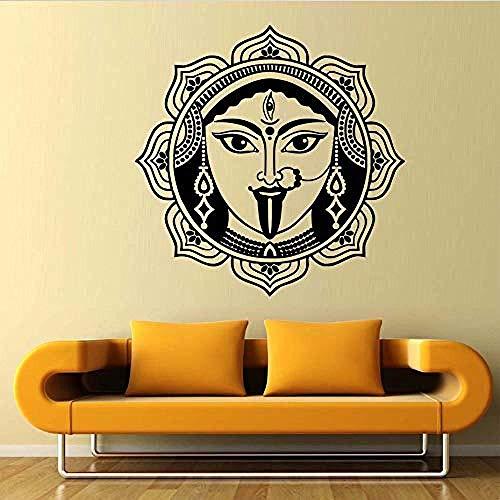 Indische Wandkunst Shiva Wandaufkleber Wohnkultur Wohnzimmer hochwertige abnehmbare Vinyl Dekoration Hinduismus Gott Wandtattoos 59x59cm