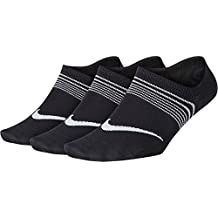 Nike Y NK Everyday LTWT Foot 3PR Socks, Mujer, Black/White, M