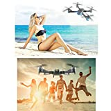 Foldable Drone with Camera,XT-1 Wifi RC Quadcopter 1080P Wide-Angle Live Video with Gravity Sensor, Trajectory Flight Mode, AR Shooting Game Function and Headless Mode (Updated Version)