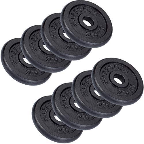ScSPORTS 20 kg Hantelscheiben-Set 8 x 2,5 kg Gusseisen Gewichte 30/31 mm Bohrung, durch Intertek geprüft + bestanden¹