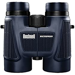 Bushnell H2O 10 x 42 mm All Purpose Binocular 150142, Pouch and Strap Included, Waterproof Binocular with Non-Slip Rubber Armor, Bak-4 Roof Prisms