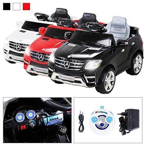 *Kinder Elektroauto Mercedes ML 350 Original Lizenz Auto 2x 25 Watt Motor Kinderauto Kinderfahrzeug Elektroauto (Schwarz)*