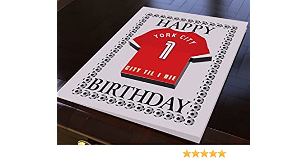 Any NAME /& NUMBER Blackpool Colours Personalised Football Shirt Birthday Card