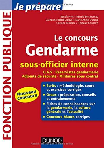 Le concours Gendarme sous-officier interne