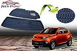 #1: Auto Pearl 3D Car Foot Mat for Mahindra KUV 100 (Set of 2, Black)