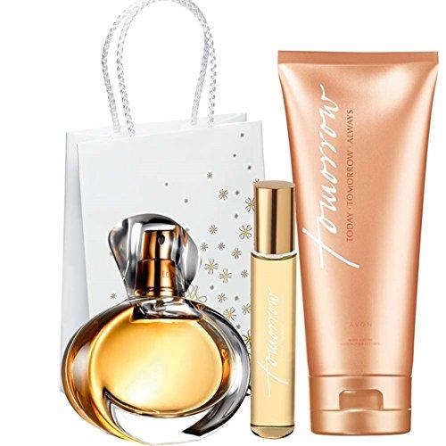 Avon Tomorrow Set EDP Spray für Sie 50 ml + Taschenspray + Körperlotion