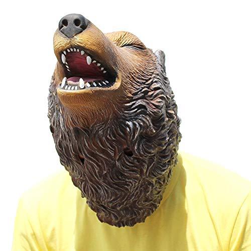Halloween Karneval Party Bar Cosplay Parodie Scary Requisiten Roaring Wolf Latex Maske