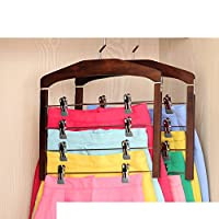 DXG&FX Wooden Pants Rack Multi-layer Household Storage Hanger With Clip