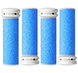4 x Extra Coarse BLUE Micro Mineral Replacement Rollers Compatible with Emjoi Micro Pedi and Compatible with PediSmooth® Pedi Smooth