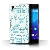 Custodia/Cover/Caso/Cassa Gel/TPU/Prottetiva STUFF4 stampata con il disegno Tessuti Domestici per Sony Xperia M4 Aqua - Casa/Scarabocchio/Schizzo