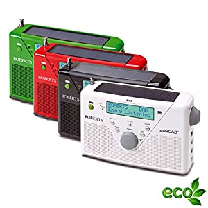 Roberts Radio solarDABII Radio solaire portable DAB+/FM Chargeur intégré (Import Allemagne)