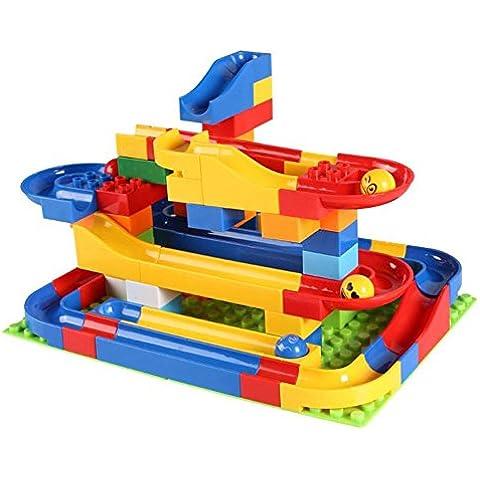 juguetes educativos bola de pista plástico interconexión de bloques coloridos 72 jugadas de los niños fijaron