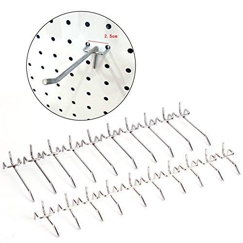 CLE DE TOUS - Pack de 20unds 5cm 10cm Gancho Colgador para Tablero con Agujero Panel Perforado