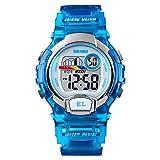 Armbanduhren Mode-Accessoires, Frauen Leucht Sport Casual Digital Alarm Datum Woche Display Armbanduhr - Blau