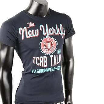 Herren T-Shirt Shirt NEW YORK shirt Tanktop Tank top T shirt (L, Marine)