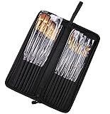 HNBGY Professionale Kit di pittura ad acquerelli a olio professionale multifunzionale con custodia (1 confezione da 15 pennelli)