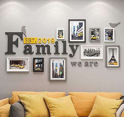 DENGJU Foto Rahmen Familie Collage Massivholz Kombination Wohnzimmer Bilderrahmen Wand Kreative Restaurant Hintergrund Wand Dekoration ( Farbe : A )