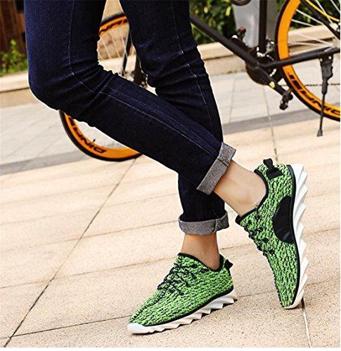 QIYUN.Z Beiläufige Sport Frauen Männer Liebhaber Läuft Sportlich Nahtlose Schuhe Weiche Sohle (Damen) Grün