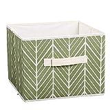 Moorui Offene Faltbarer Aufbewahrungsbox Kleidung Kisten Aufbewahrungskisten Korb Aufbewahrung Grüne Blätter 28*28*22 cm