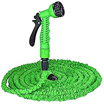 Dream Man Multifunctional Water Spray Gun for Plants Car Wash for Garden with Hose Pipe Indoor Outdoor Withra High Pressure Washer 10 Mtr (Green)