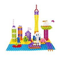 100Pcs Child Kid Plastic Multicolor Snowflake Building Blocks Educational Toy