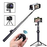 Selfie Stick Stativ, Taotuo Handy Stativ mit Bluetooth-Fernbedienung Shutter Mehrwinkel Drehung zum Schießen für Smartphone, Kameras, Gopro Hero Serie schwarz
