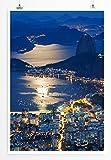 Eau Zone Bilder - Landschaft Natur – Sugar Loaf und Botafogo Rio de Janeiro - Leinwand Kunstdrucke Wandbilder aus Deutschland
