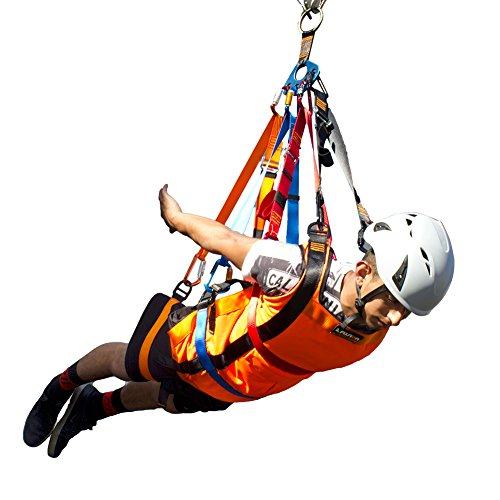 Fusion Climb Super Ripper Ii Superman Style Head First Zipline cablaggio Kit completo