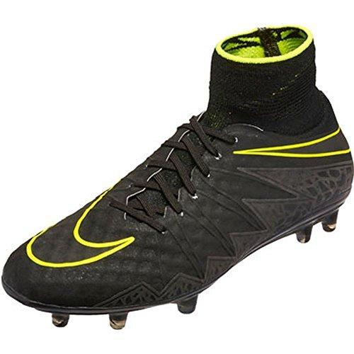 Nike Hypervenom Phantom II FG, Botas de Fútbol para Hombre, Negro (Black / Black), 41 EU