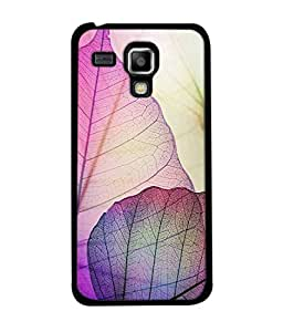 Samsung Galaxy S Duos S7562 Back Cover Pink Green Colour Leaves Design From FUSON