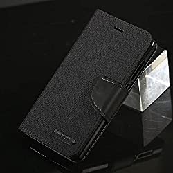 For Samsung Galaxy J7 Nxt Flip Cover & Diary Wallet Case Black