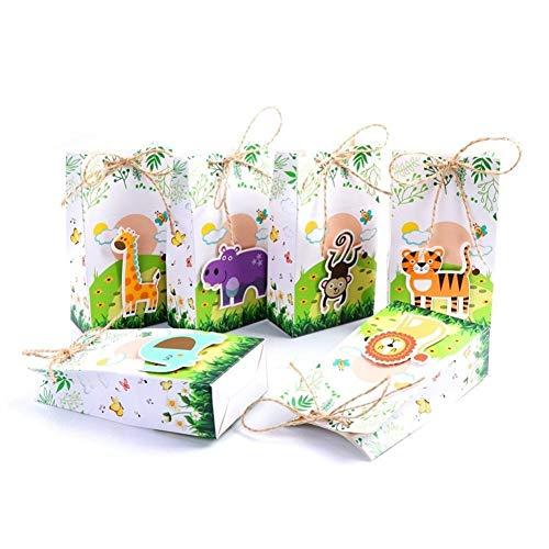 12 stücke Safari Tiere Favor Box Geschenk Taschen Dschungel Geburtstag Themen Party Dekoration Event Party Supplies