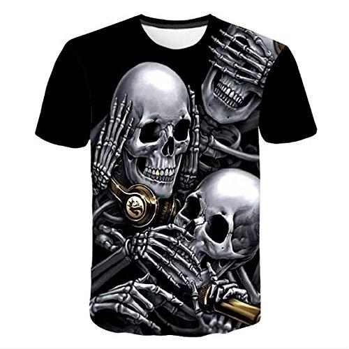 Männer Frühling Sommer Männer T-Shirts 3D Gedruckt Tier t-Shirt Kurzarm Lustige Design Casual Tops Tees Männlich,Lässiger Rundhals-Print schwarz 6XL