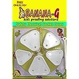 Banana-G (3 Small & 2 Big) Baby Safety Electrical Socket Cover,Guard,Protector-Free Key- (Small Socket Cover for 5 amp. & Big Socket Cover for 15 amp. Plug Socket- White)