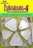 #10: Banana-G (3 Small & 2 Big) Baby Safety Electrical Socket Cover,Guard,Protector-Free Key- (Small Socket Cover for 5 amp. & Big Socket Cover for 15 amp. Plug Socket- White)