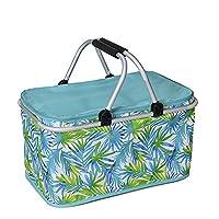 Thermal Aluminium Foldable Portable Coolbox Blue Basket Shopping Basket Picnic Basket Lunch Gr??n