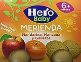 Hero Baby Tarrito Fruta Merienda Mandarina Manzana Galleta - 2 Unidades x 190 gr
