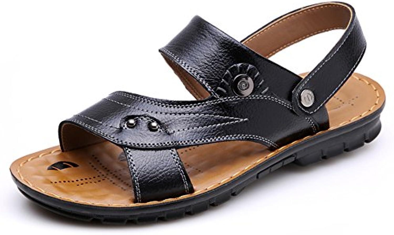dulee sandales, pantoufles pantoufles sandales, pour hommes et chaussures de plage feuillet, Noir  38 b0721494y1 p aren t b06049